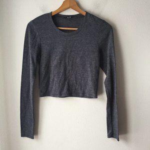 Aritzia Wilfred Free Long Sleeve Cropped T-Shirt